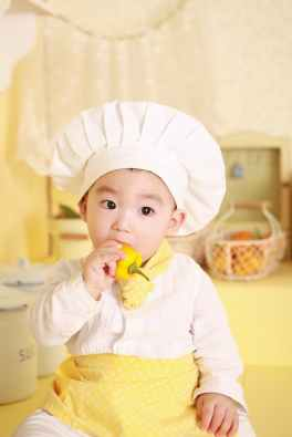 chef kitchen cooking baby