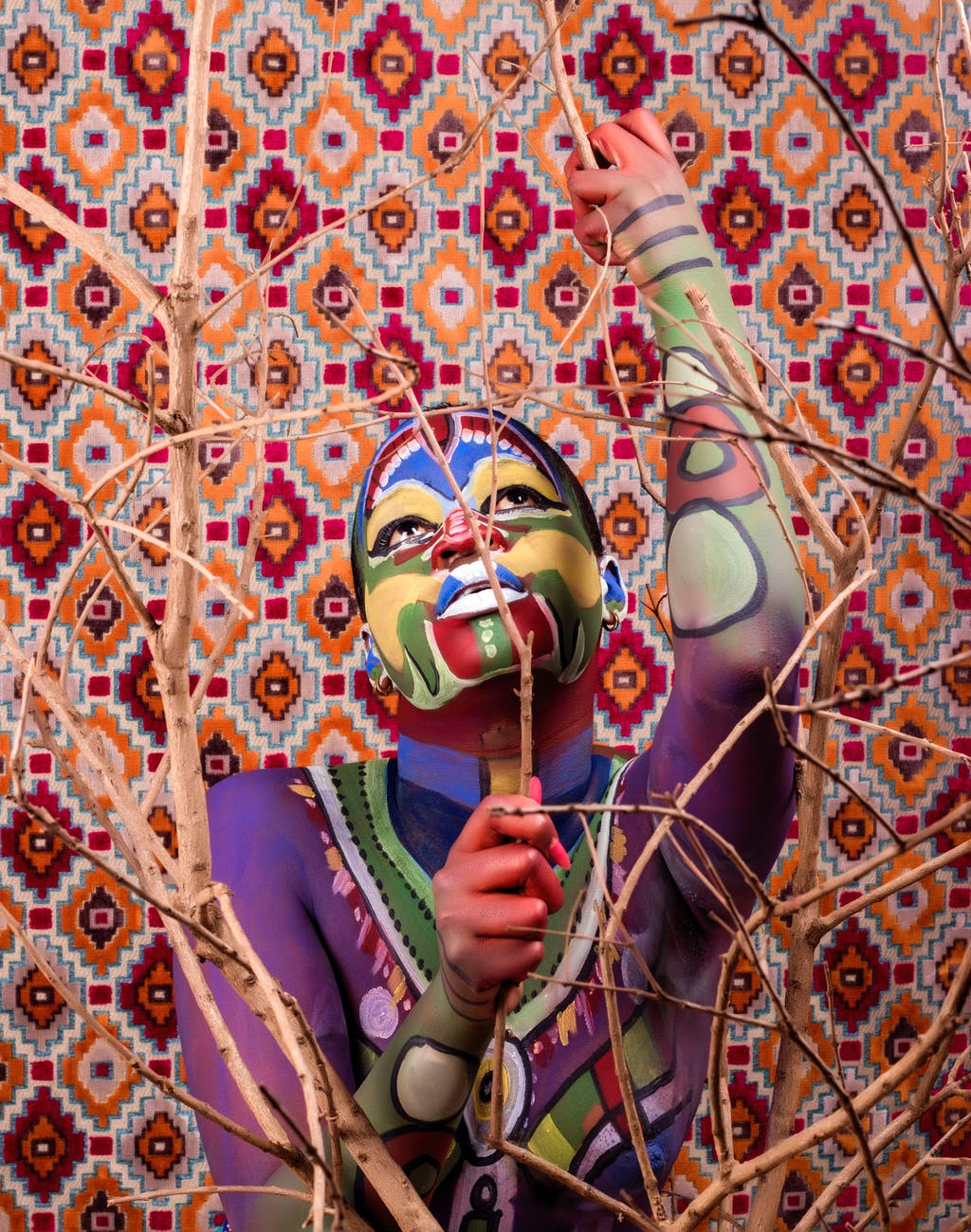 photo of person with face and body paint